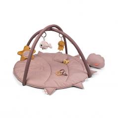 palestrina attivita con tappeto gioco trapuntato -rosa cipria