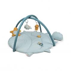 palestrina attivita con tappeto gioco trapuntato - blu