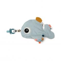doudou con reggiuciuccio cozy friend wally -blu - 25x22 cm