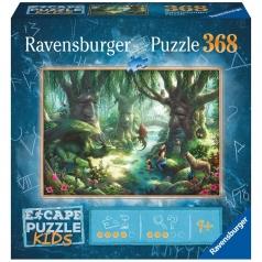 la foresta magica - escape puzzle kids 368 pezzi
