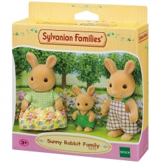 famiglia conigli girasole