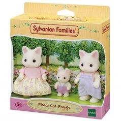famiglia gatto floreale