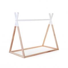 struttura letto tipi, legno di faggio massello - 140x70 cm