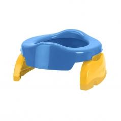 potette 2in1 blu - vasino da viaggio e riduttore wc - include 3 ricambi