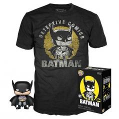 dc comics - batman funko pop e t-shirt taglia m