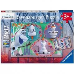 frozen 2 olaf - puzzle 2x12 pezzi