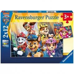paw patrol movie - puzzle 2x12 pezzi