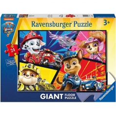 paw patrol movie - puzzle 24 pezzi pavimento