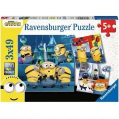 minions - puzzle 3x49 pezzi