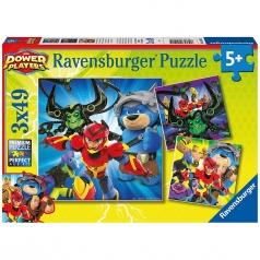 power players - puzzle 3x49 pezzi