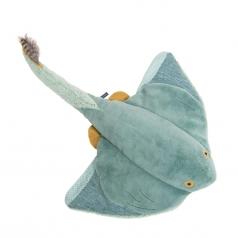 peluche squalo razza grande 64cm tout autour du monde