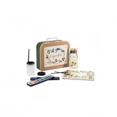 valigetta del pittore con acquarelli le jardin