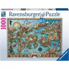 il mistero di atlantide - puzzle 1000 pezzi