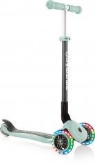 globber primo foldable lights - monopattino a tre ruote pieghevole - pastel mint