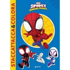 spidey. staccattacca & colora. con adesivi. ediz. illustrata