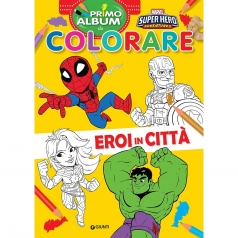 eroi in citta. marvel super hero adventures. primo album da colorare. ediz. a colori