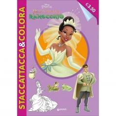 la principessa e il ranocchio. staccattacca e colora. con adesivi. ediz. illustrata