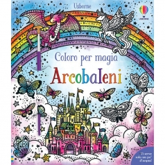 arcobaleni. coloro per magia. con pennello
