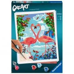 creart - flamingo love