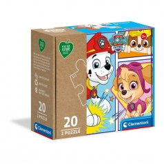 paw patrol - puzzle 2x20 pezzi - play for future