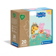 peppa pig - puzzle 2x20 pezzi - play for future