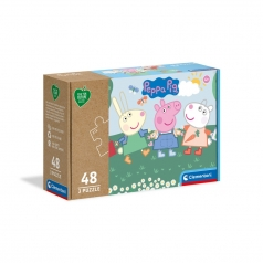peppa pig - puzzle 3x48 pezzi - play for future