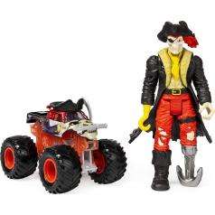 monster jam - confezione con monster truck 1:64 e personaggio