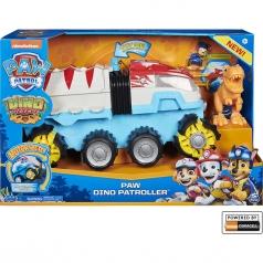paw patrol dino rescue - dino patroller veicolo motorizzato con personaggio e dinosauro