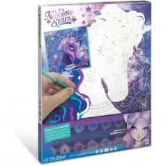 nebulous stars - unicorni - pittura coi numeri su tela