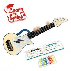 ukulele blu a ritmo di luci