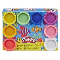 play-doh - set da 8 vasetti colorati arcobaleno