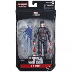 marvel legends series - the falcon and the winter soldier - u.s. agent - personaggio 15 cm