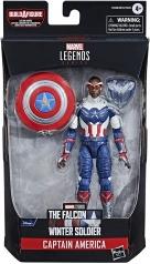 marvel legends series - the falcon and the winter soldier - captain america - personaggio 15 cm