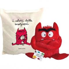 rabbia. mostro rosso. il mostro dei colori. con gadget. con giocattolo morbido