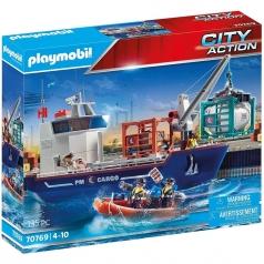 nave da carico con container