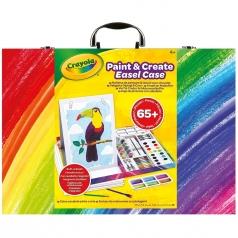 valigetta dipingi & crea - 65 pezzi con cavalletto integrato