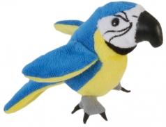 burattino da dita - pappagallo blu e oro