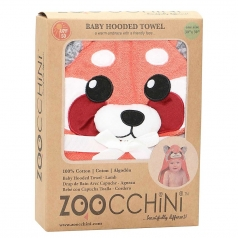 asciugamano baby con cappuccio - panda - 100% cotone