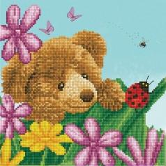 honey pot bear hide and seek - diamond dotz intermediate dd6.033 30x30cm