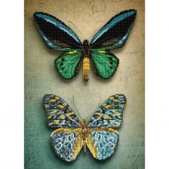 antique butterflies - diamond dotz intermediate dd9.064 37x52cm