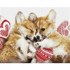 love cuddles - diamond dotz intermediate dd10.050 51x41cm