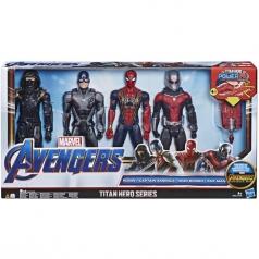 avengers titan hero - set 4 personaggi 30cm - ronin + captain america + iron spider + antman