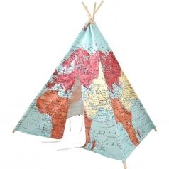 teepee tent world map - tenda mappa del mondo - sunny a colori