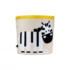 cesto portatutto - zebra - 100% cotone