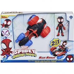 marvel spidey and his amazing friends - miles morales con veicolo