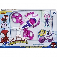 marvel spidey and his amazing friends - ghost spider con veicolo