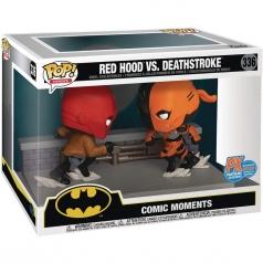 comic moments - red hood vs deathstroke - funko pop 336