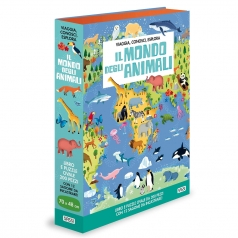 il mondo degli animali - puzzle e libro