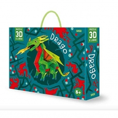 drago - modello in 3d da costruire e libro