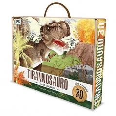 tirannosauro - modello in 3d da costruire e libro